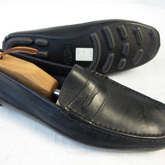 088477416a39b New Bally Mens Black Leather Loafers Switzerland 9